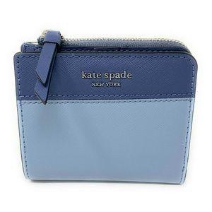 Kate Spade Cameron Small L-Zip Bifold Wallet Blue